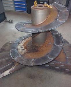 zwei sanierte Mischerschnecken<br />für Trioliet Solomix 2 1600 VLH-B